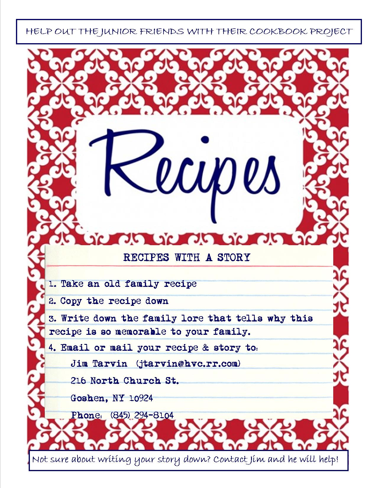 Jr. Friends recipe with a story