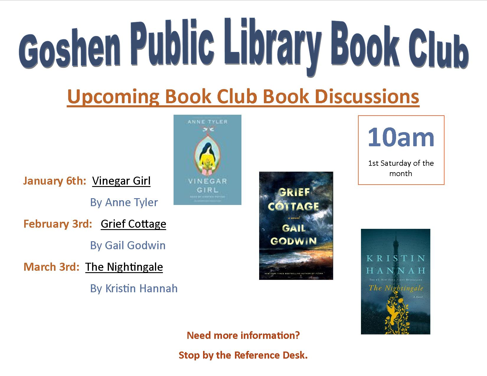 Upcoming book discussions-Jan. through March 2018 dpf