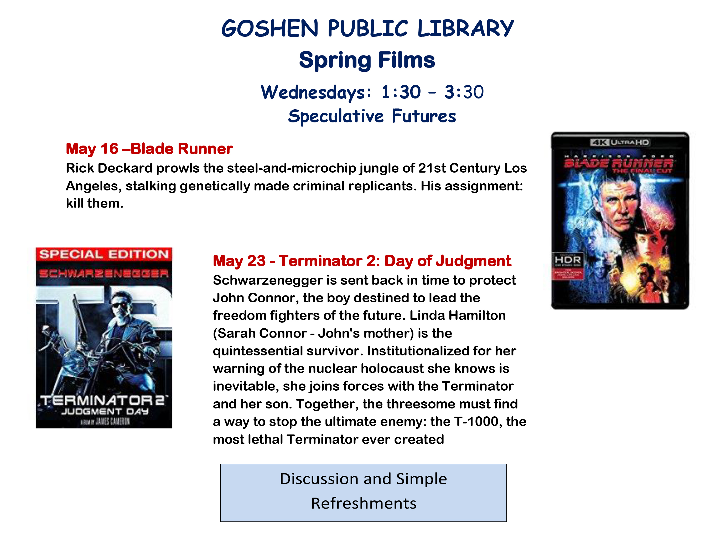 GOSHEN PUBLIC LIBRARY FILM may two, 2018