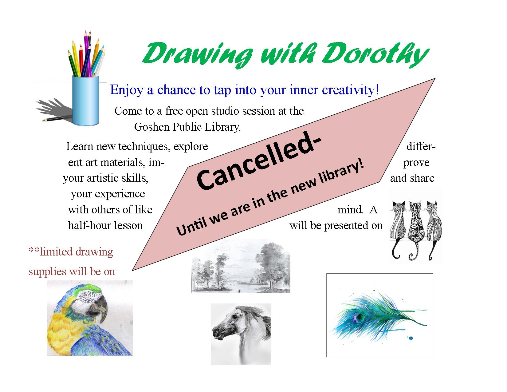 Drawing with Dorothy flyer-cancelled
