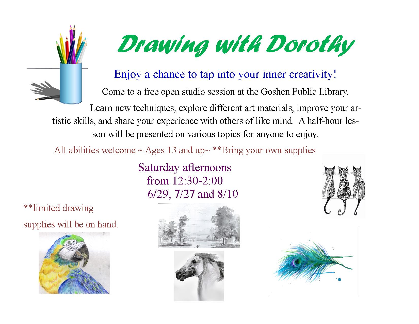 Drawing with Dorothy flyer