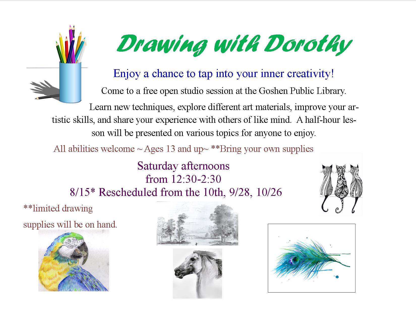 Drawing with Dorothy flyer fall