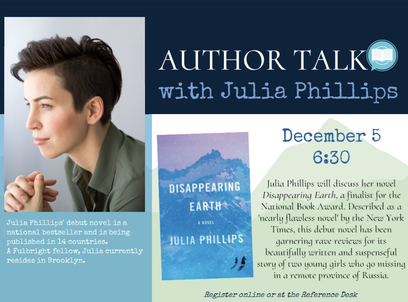 Author Talk w J. Phillips lores