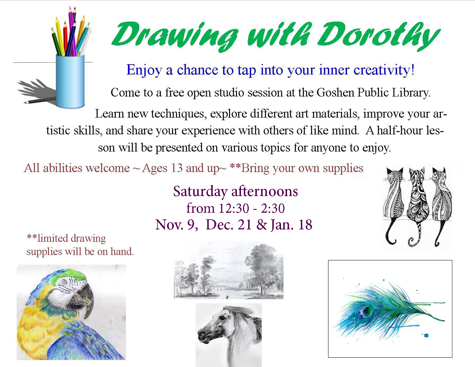 Drawing with Dorothy flyer NOV