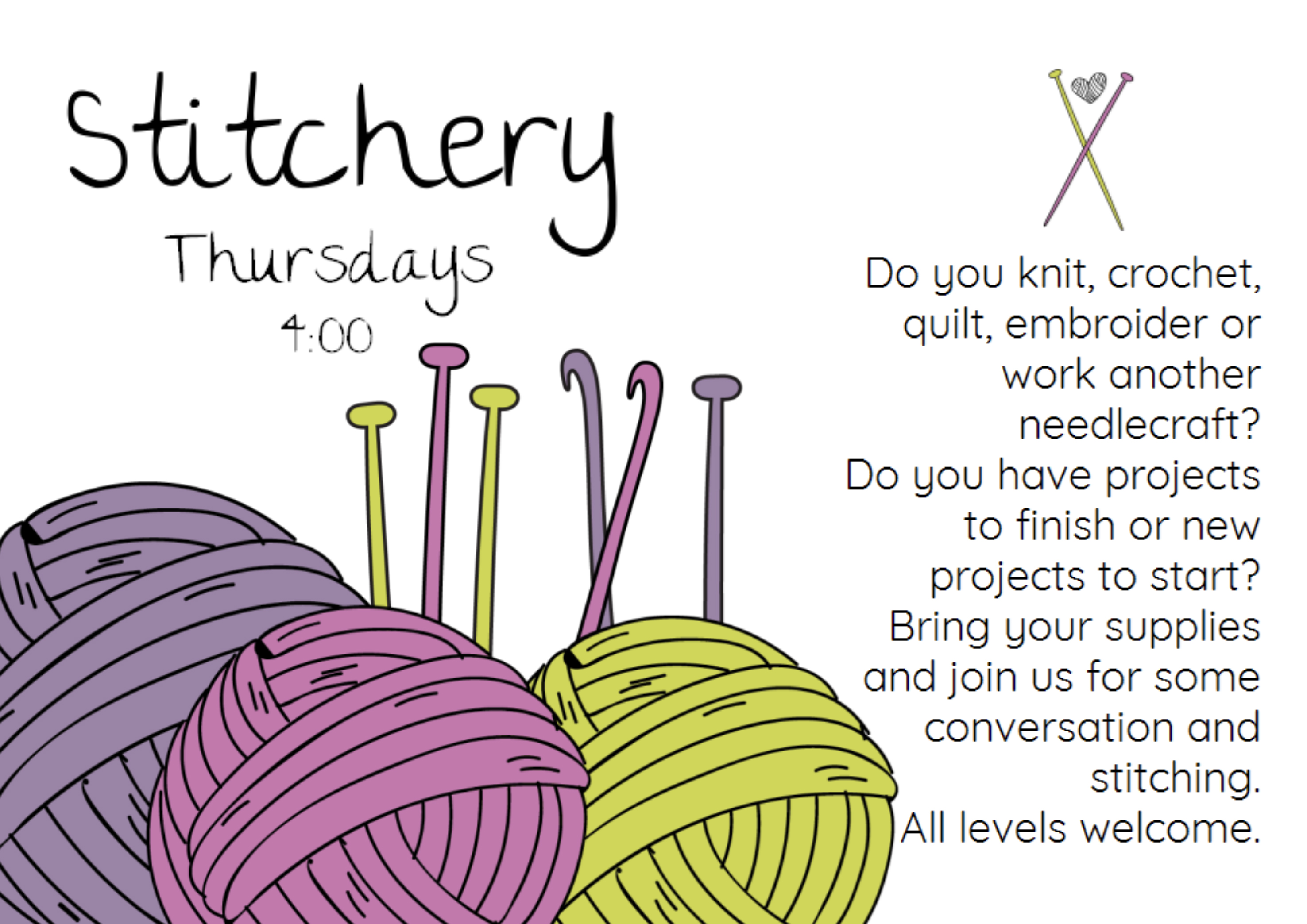 Stitchery Thurs 4