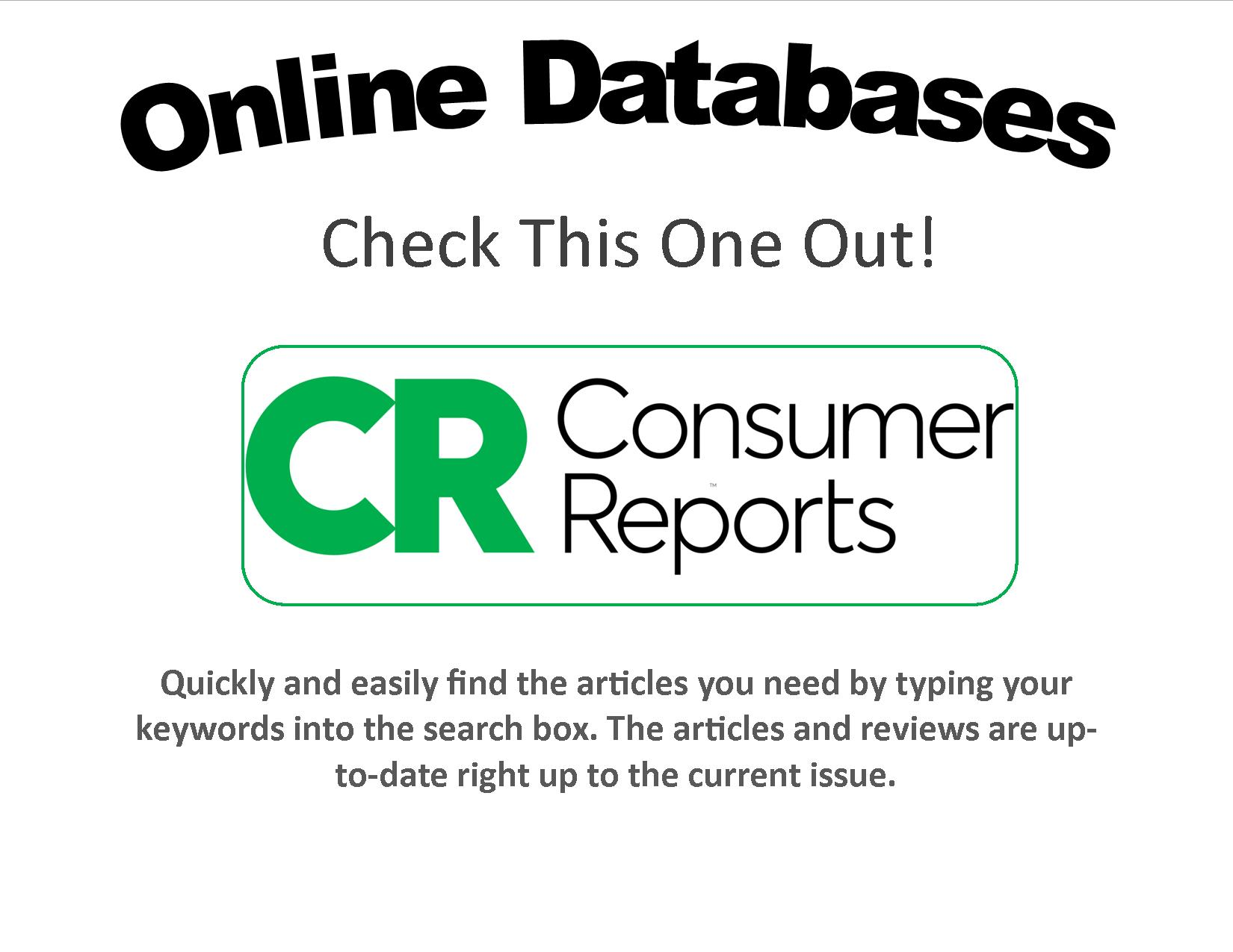 Consumer Reports flyer