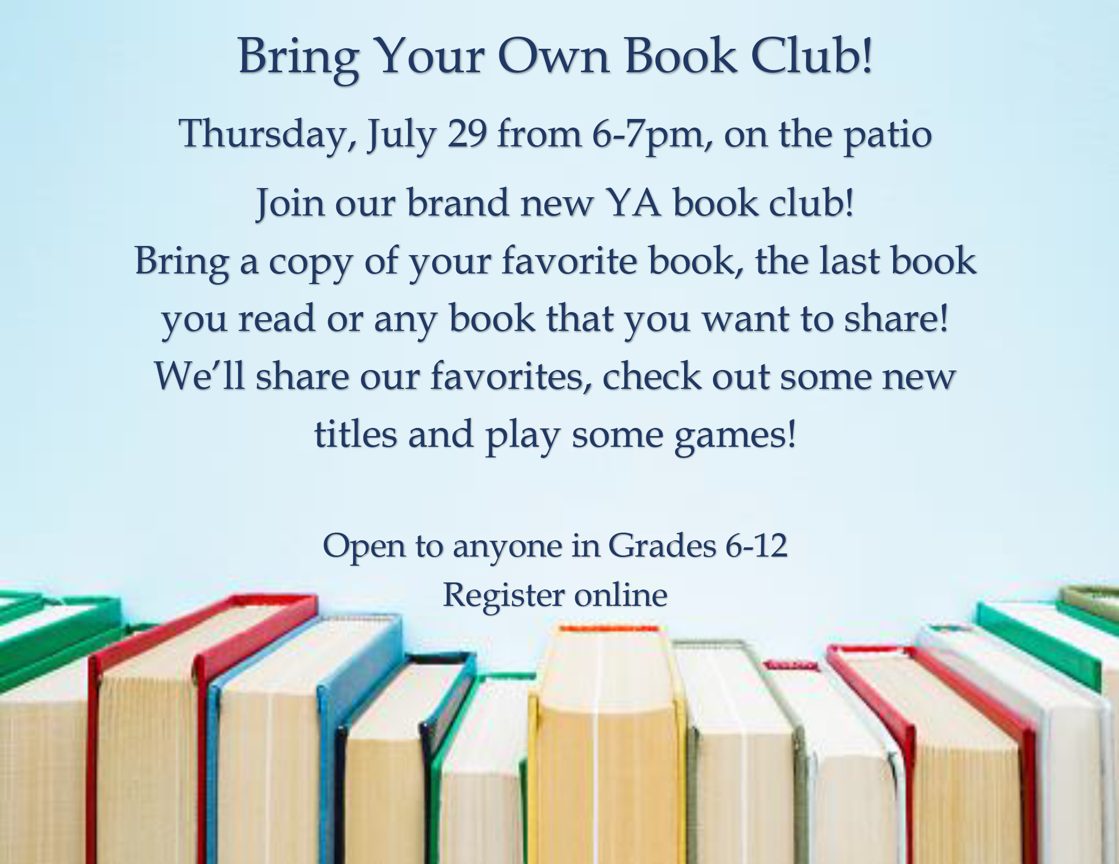 Bring your own book club flyer